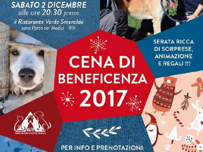 Cena beneficenza 2 dicembre 2017