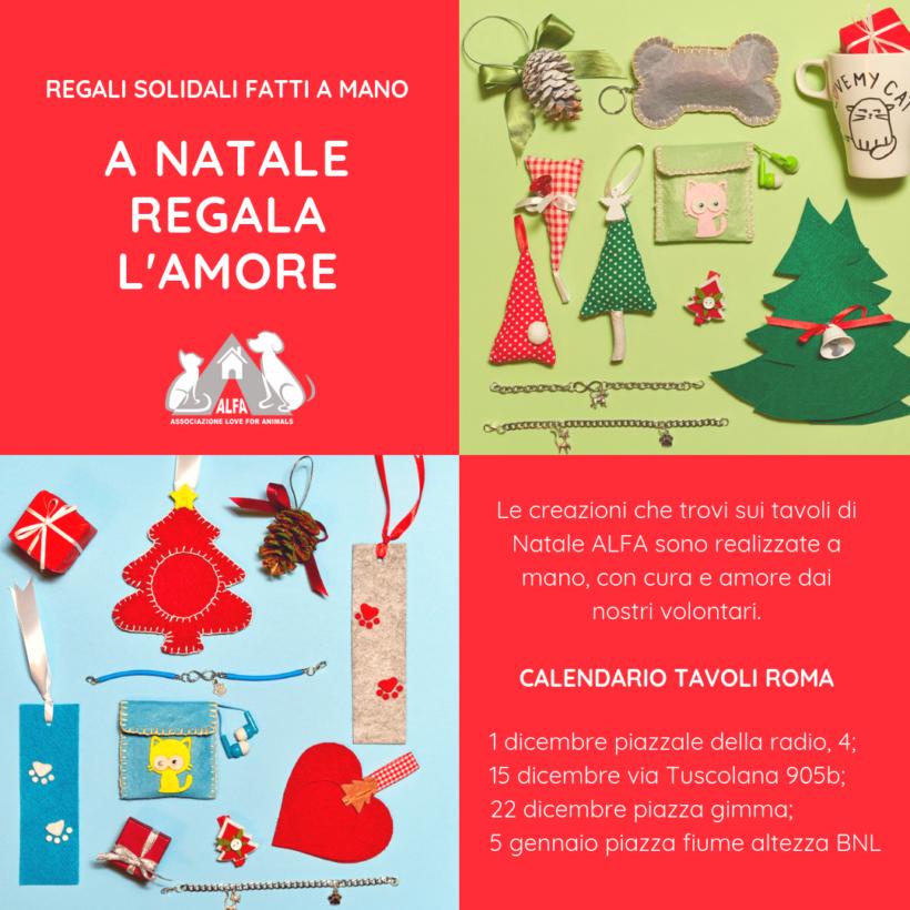 Regali solidali ALFA nelle piazze di Roma