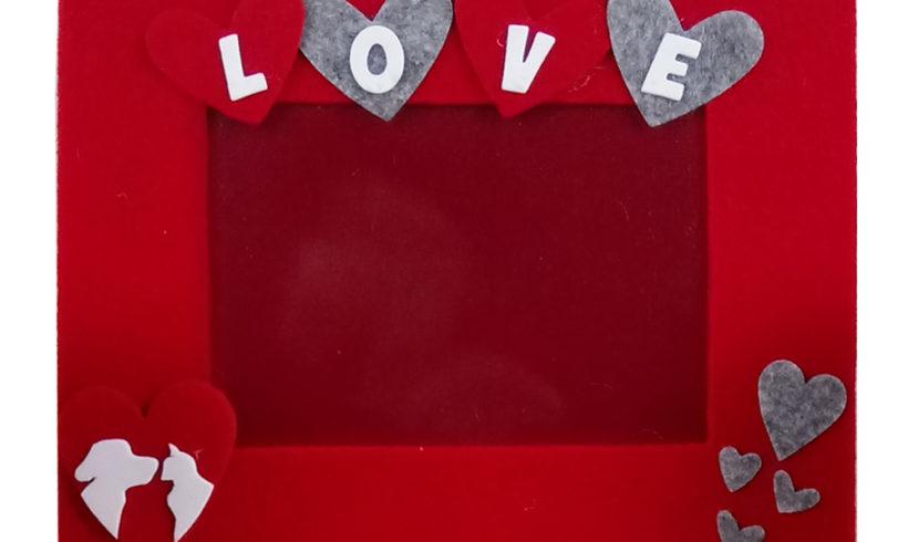San Valentino – LOVE cornice in feltro
