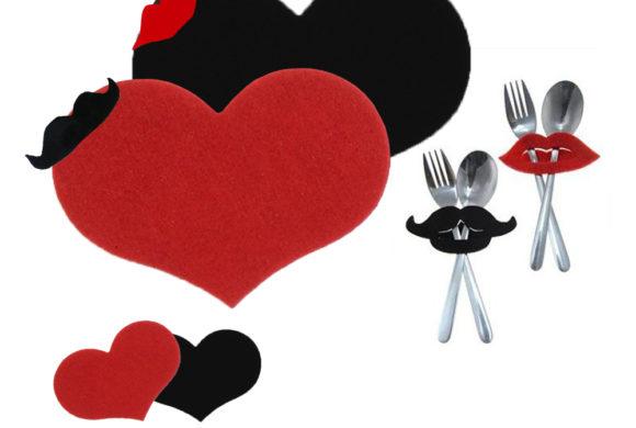 San Valentino – CENA ROMANTICA Set da tavola