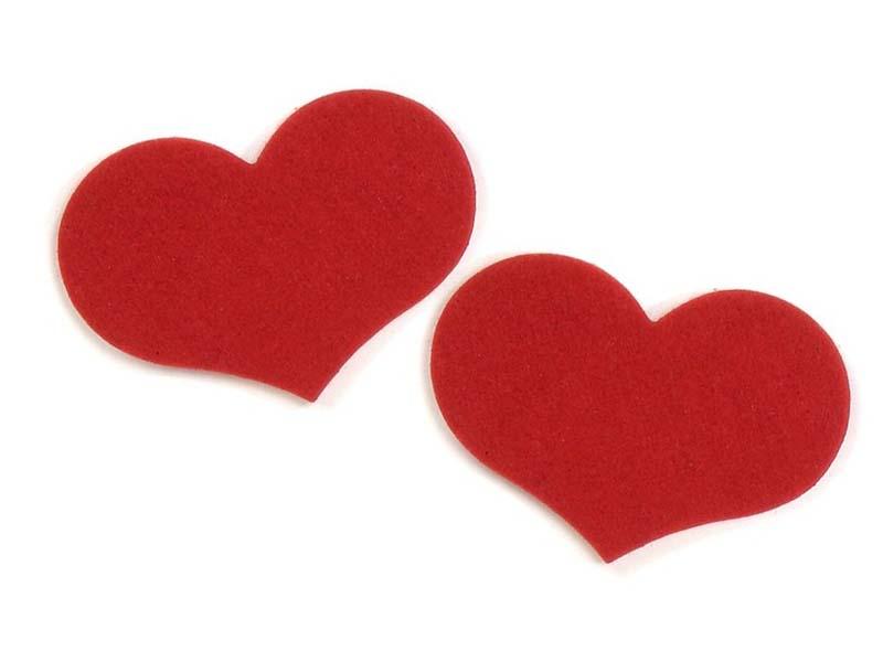 San Valentino – CUORI sottobicchieri in feltro